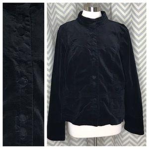 💥 Torrid velour jacket black 2 2X